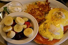 Eggs Benedict at Telegraph House Bed & Breakfast